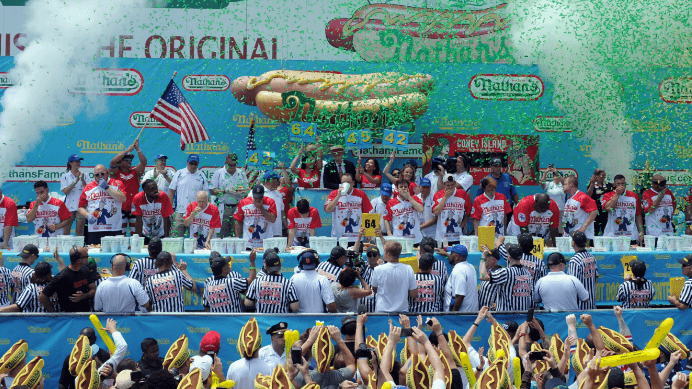 NJ Says No to Bets on Nathan's Hot Dog Eating Contest