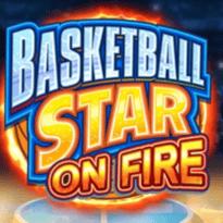 Basketball Star On Fire Logo