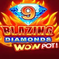 9 Blazing Diamonds WOWPOT Logo