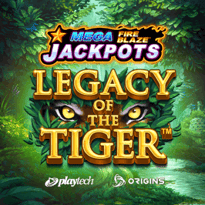 Mega Fire Blaze Jackpots: Legacy of the Tiger Logo