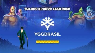 Spela på ny actionfylld videoslot med ett cash race på 150.000 kronor i potten!