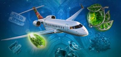 Mängder med bonusar och tävla om resa med privatflyg hos mobilcasino