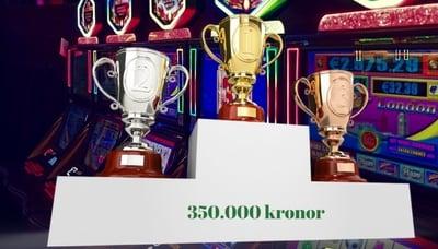 Dubbla turneringar i casino på nätet med 350,000kr i potten