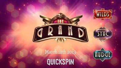 Quickspins nya spel The Grand & andra nyheter från spelbolaget