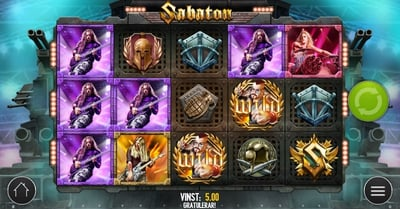 Sabaton får egen spelautomat från Play'n GO