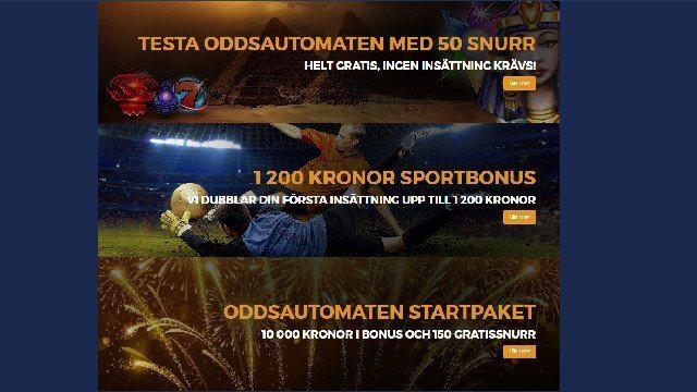 Svenskt nätcasino erbjuder flera välkomstpresenter