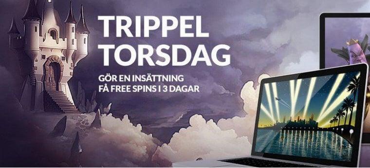 Trippel Torsdag hos Guts Casino