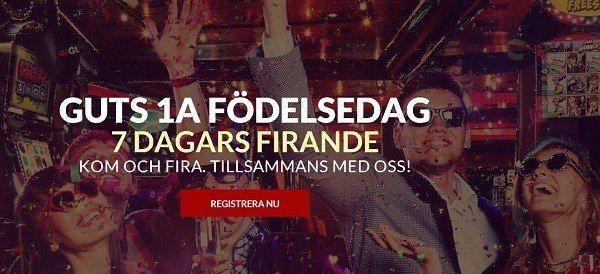 Svenska casinosajten GUTS fyller 1 år