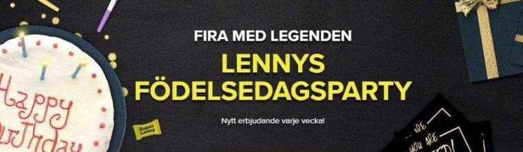 Free spins utan omsättningskrav när Lenny fyller år!