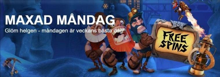 Omsättningsfritt när svenskt casino maxar måndagen på nytt!