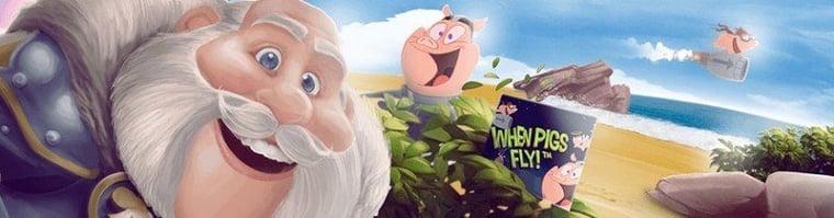 Dagliga gratisspinn i When Pigs Fly!