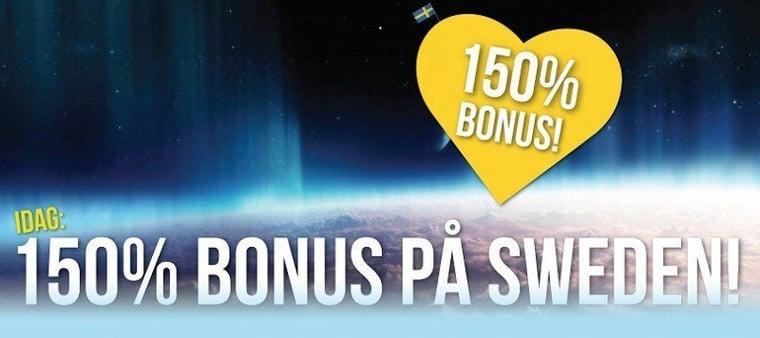 Förstorad bonus idag hos svensk casinosajt!