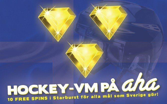 Heja fram Sverige och vinn Free Spins med ahaCasino