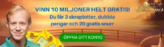 Stora vinstchanser gratis med Svenskalotter