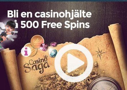 Bli en casinohjälte och få upp till 500 free spins!