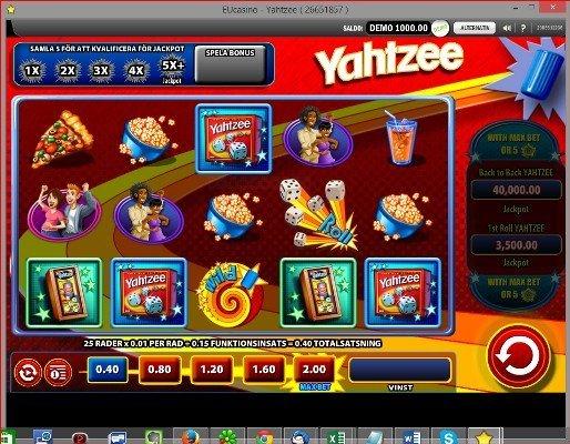 Nytt spel från WMS på Eucasino - Yatzy