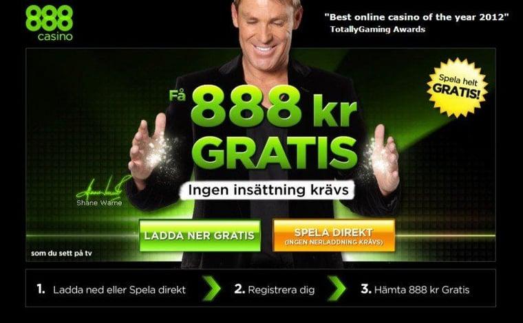 888 ger dig 888 att spela med.