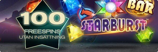 100 Free Spins på Starburst!