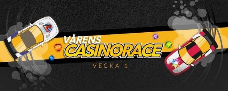Spela casino som vanligt men vinn extra i vårens stora casinorace!