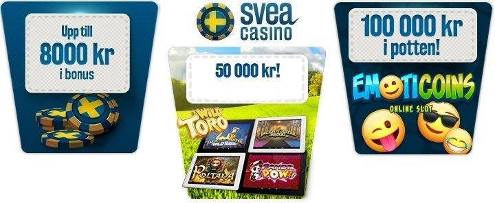 Två bra kampanjer och massa nya spel i Sveas mobilcasino!