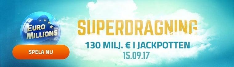 Superdragning i EuroMillions lotto – spela säkert via nätet!