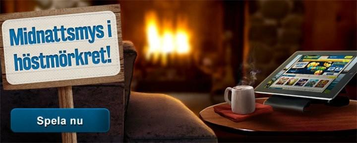 Svea bjuder på nattliga bonusar och mys i casinospel hela helgen!