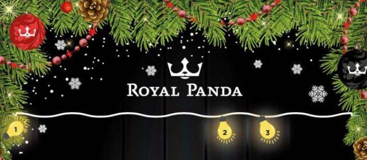 Decemberkalender med omsättningsfria free spins och annat hos den kungliga pandan!