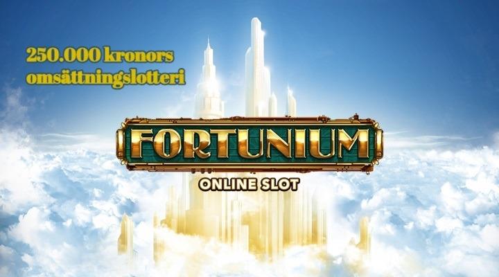 Kvarts miljon kronor i omsättningslotteri på nya Fortunium slot hos blågult casino