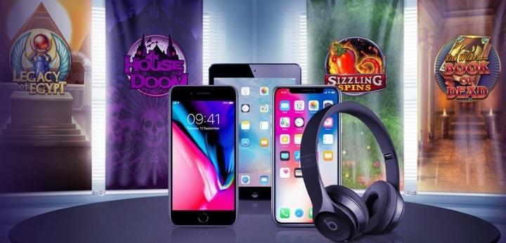 Tävla om saftiga kontanter och senaste iPhone hos casino i mobilen