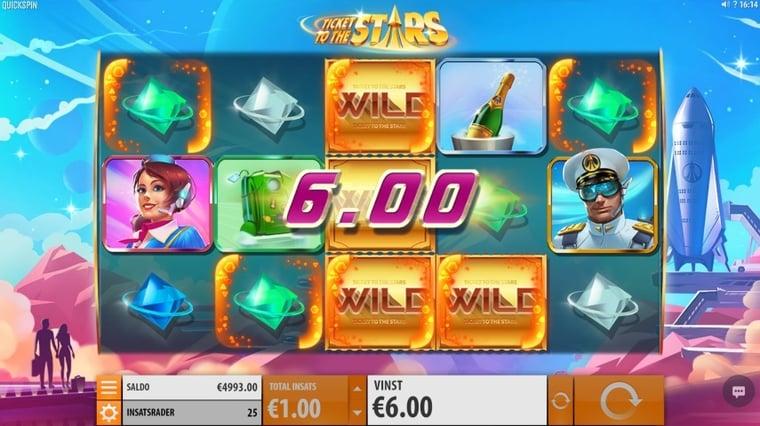 Nytt spelsläpp från svenska Quickspin: Ticket to the Stars