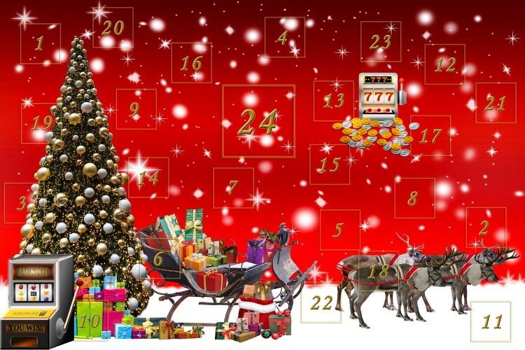 Julkalendrar och juliga bonusar hos casino i mobilen 2019