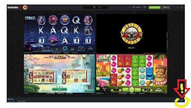 Testa fyra spel samtidigt (!) i din casino-app